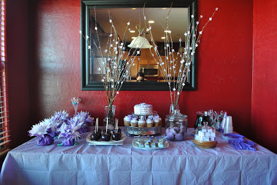 Purple Party and Dessert Table