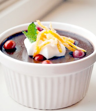 April Fools Chili...Chocolate pots de creme | thekitchenmccabe.com