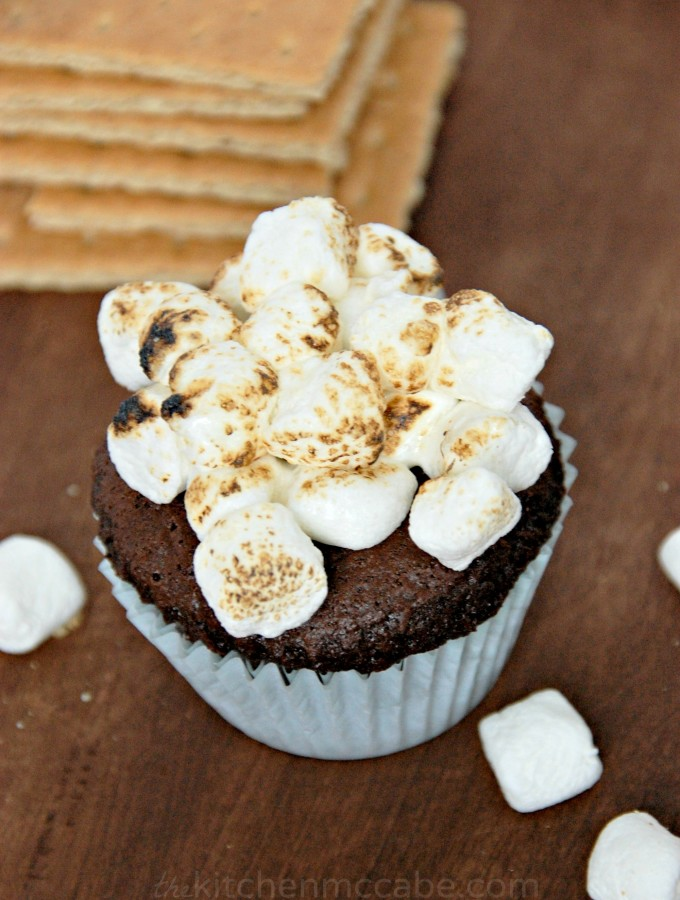 Chocolate Pumpkin S'mores Muffins