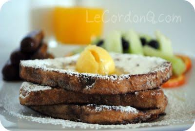 Cinnamon Raisin French Toast with Orange Butter