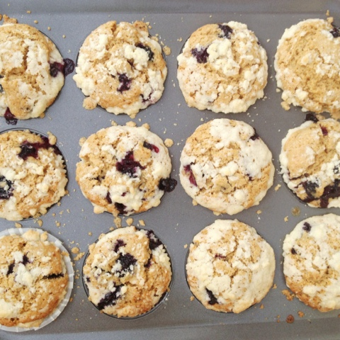 Blueberry Brown Butter Lemon Muffins