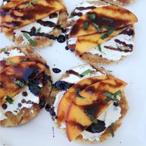 Balsamic Peach Crostini