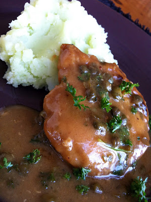 Chicken Picatta with Scallion Parsley Mashed Potatoes