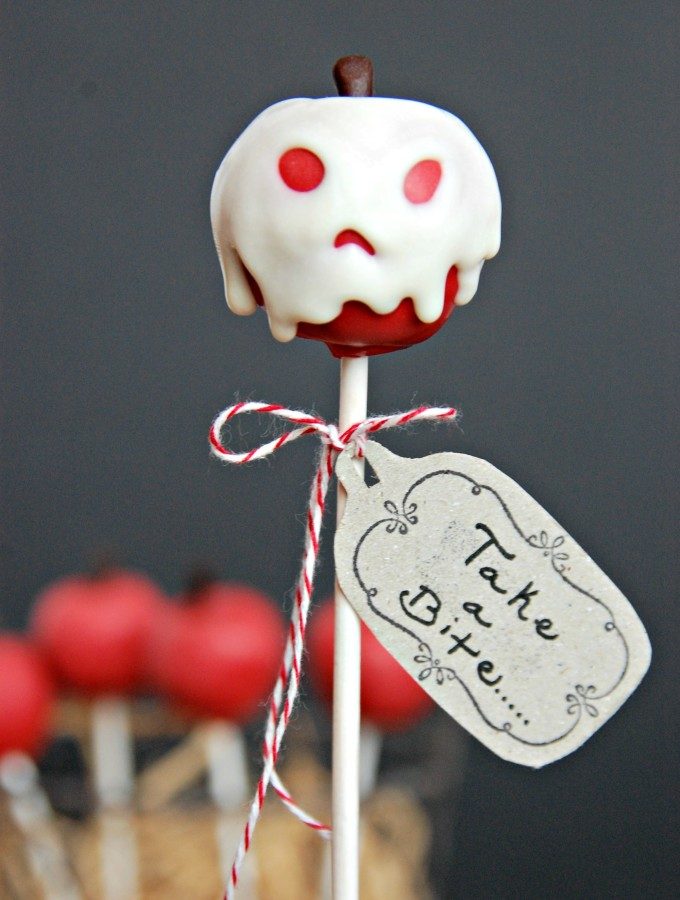 Poisoned Apple Cake Pops