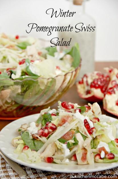 Winter pomagranate swiss salad 3