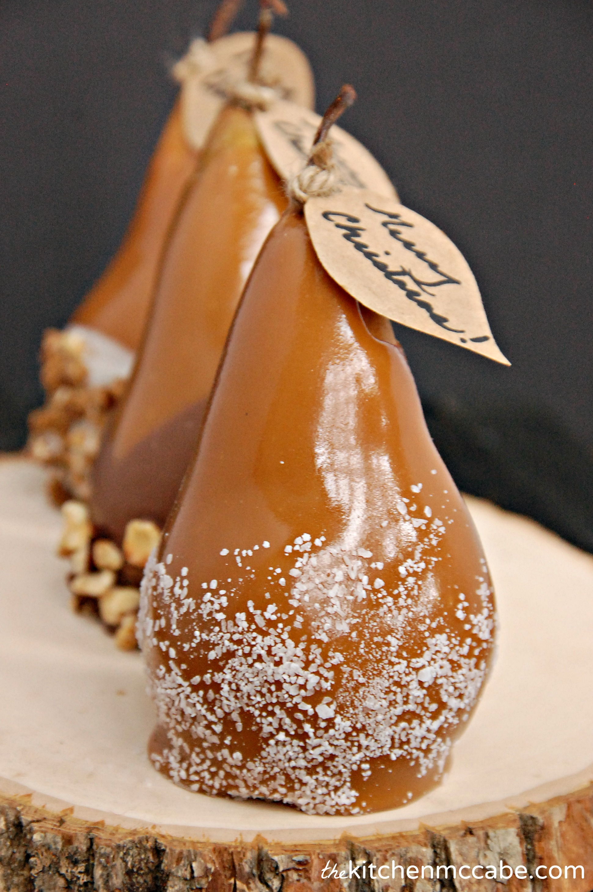 Caramel Dipped Pears - The Kitchen McCabe