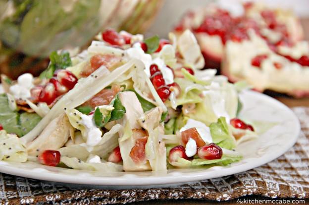 winter pomegranate swiss salad 4