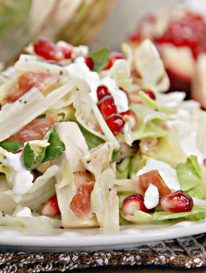Winter Pomegranate Swiss Salad