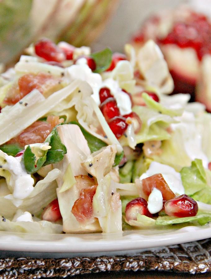 Winter Pomegranate Swiss Salad