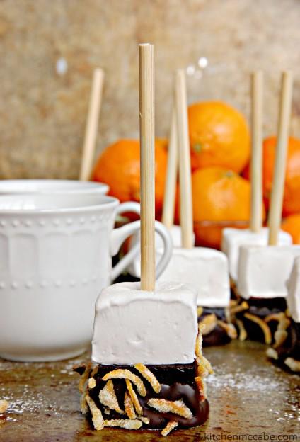 orange marshmallow hot chocolate stir stick