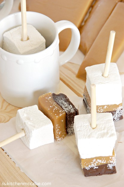 salted caramel hot chocolate stick