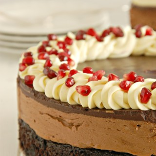 triple chocolate mousse cake with pomegranate 1