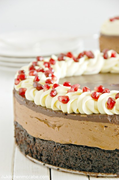 triple chocolate mousse cake with pomegranate 1 bright
