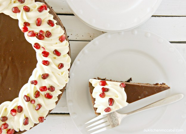 triple chocolate mousse cake with pomegranate 2