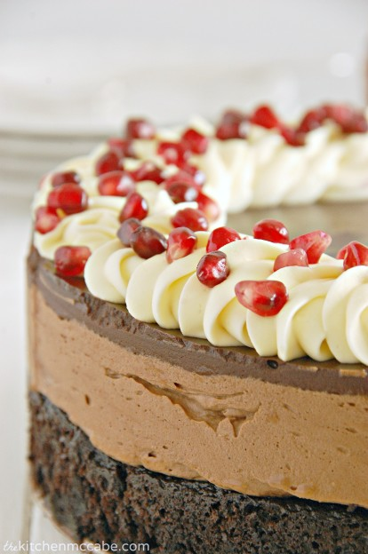 triple chocolate mousse cake with pomegranate 3
