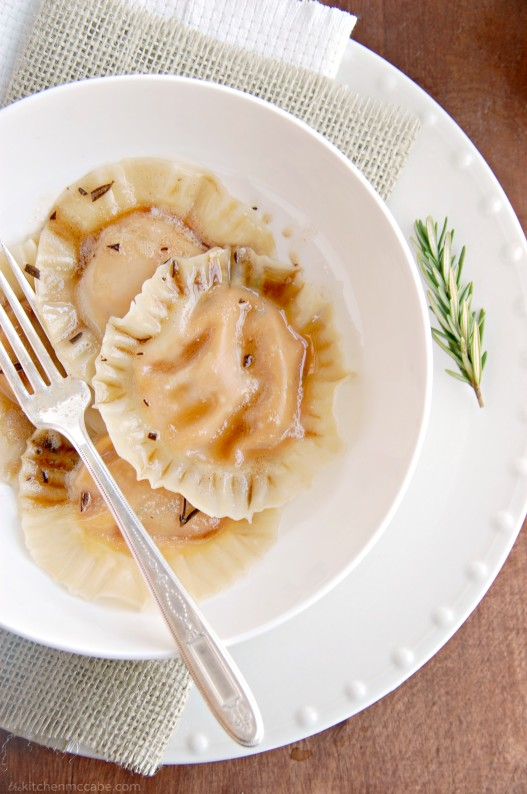 butternut squash ravioli with rosemary browned butter 2