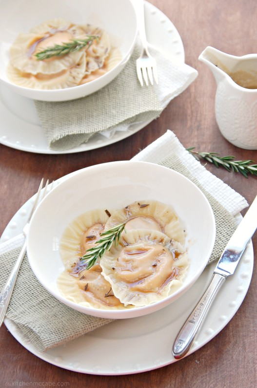 butternut squash ravioli with rosemary browned butter 3