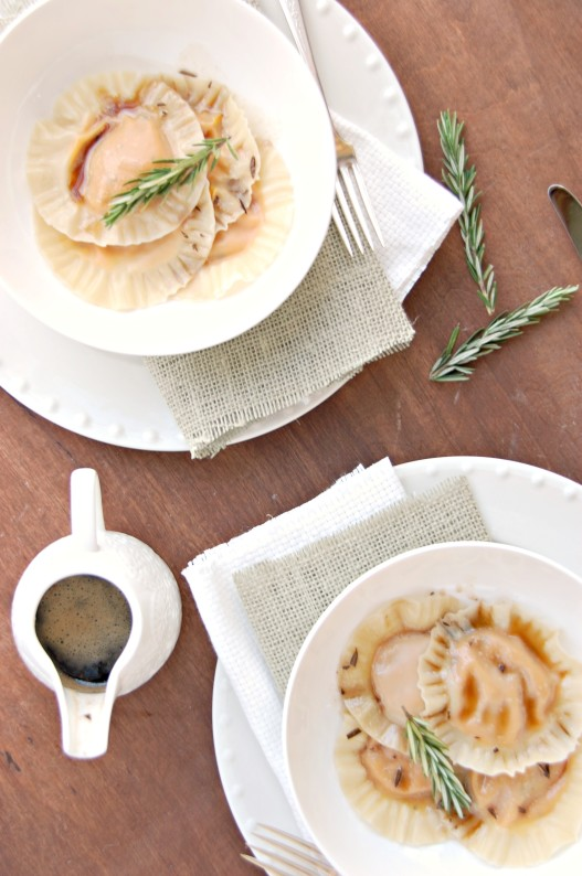 butternut squash ravioli with rosemary browned butter 4