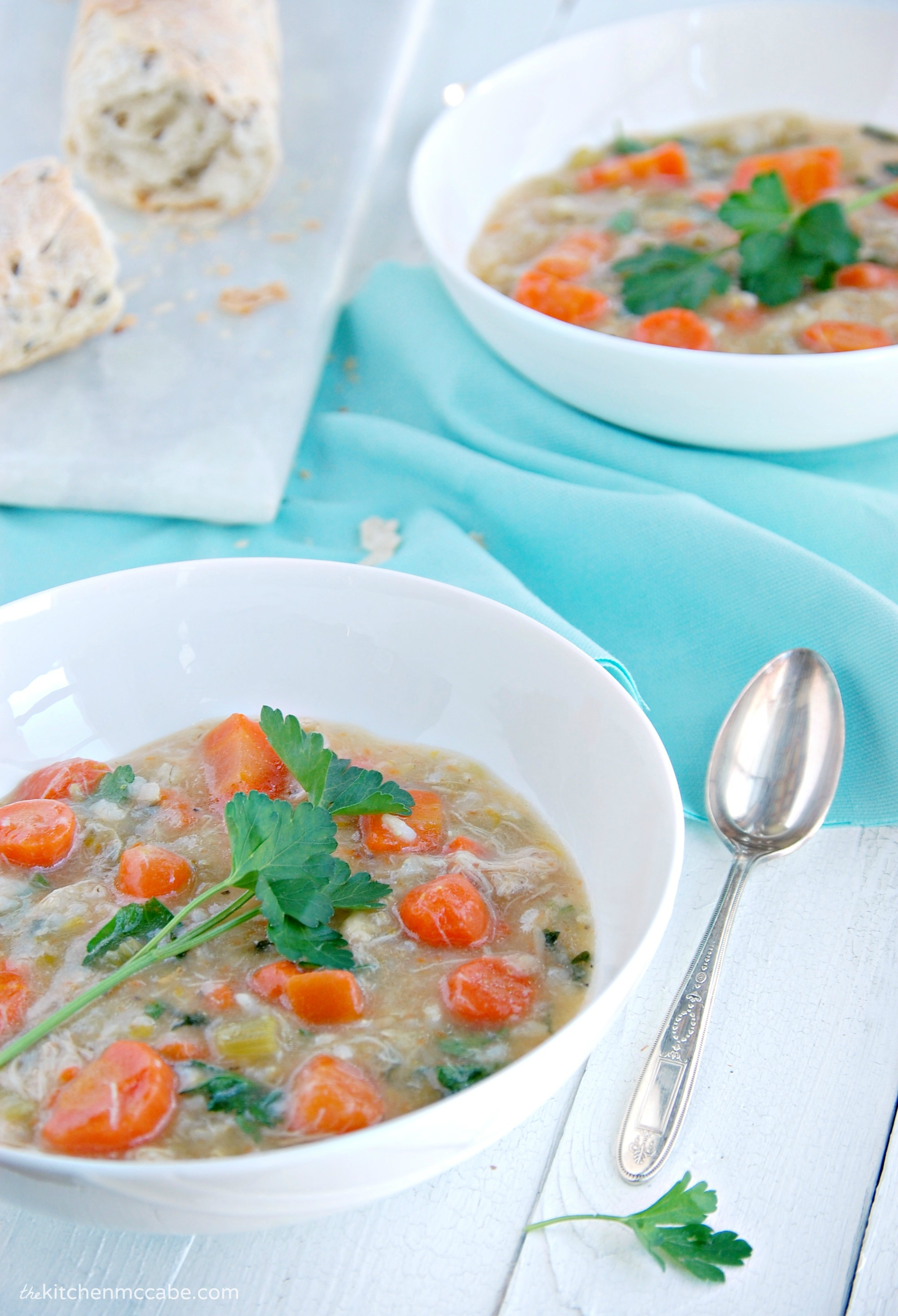 Chicken Vegetable Brown Rice Soup