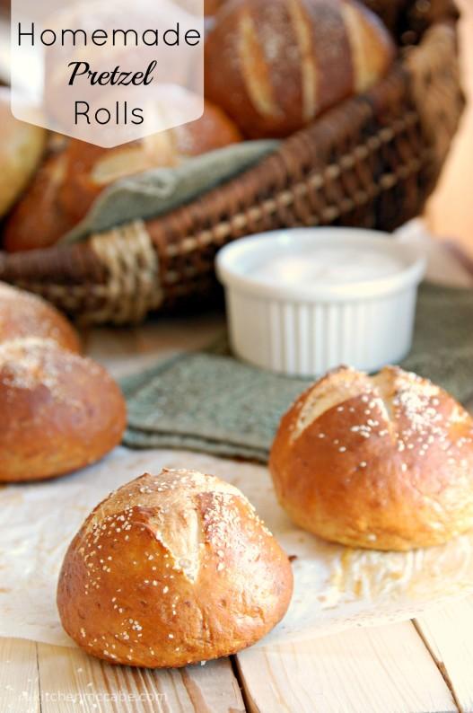 Soft homemade Pretzel Rolls - The Kitchen McCabe