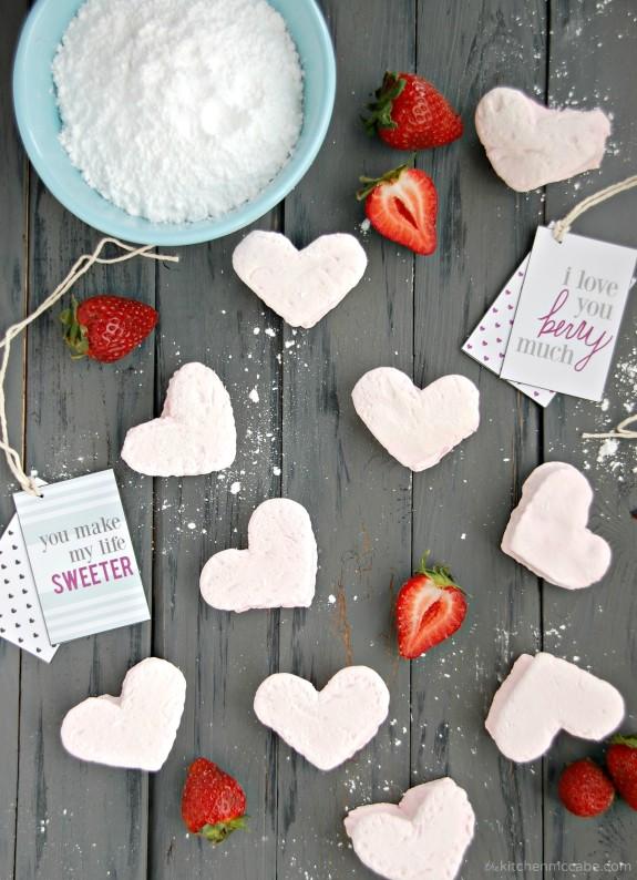 homemade strawberry marshmallows valentines day 1