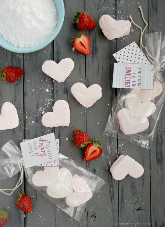 homemade strawberry marshmallows valentines day 6