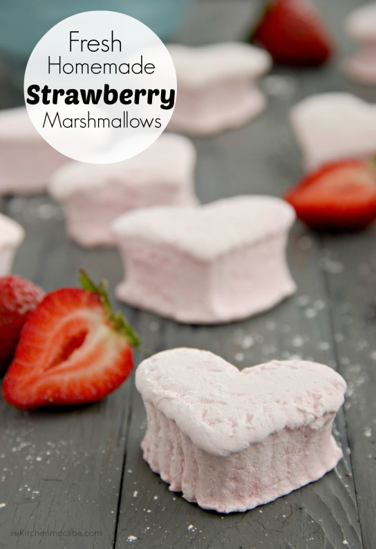 homemade strawberry marshmallows valentines day title