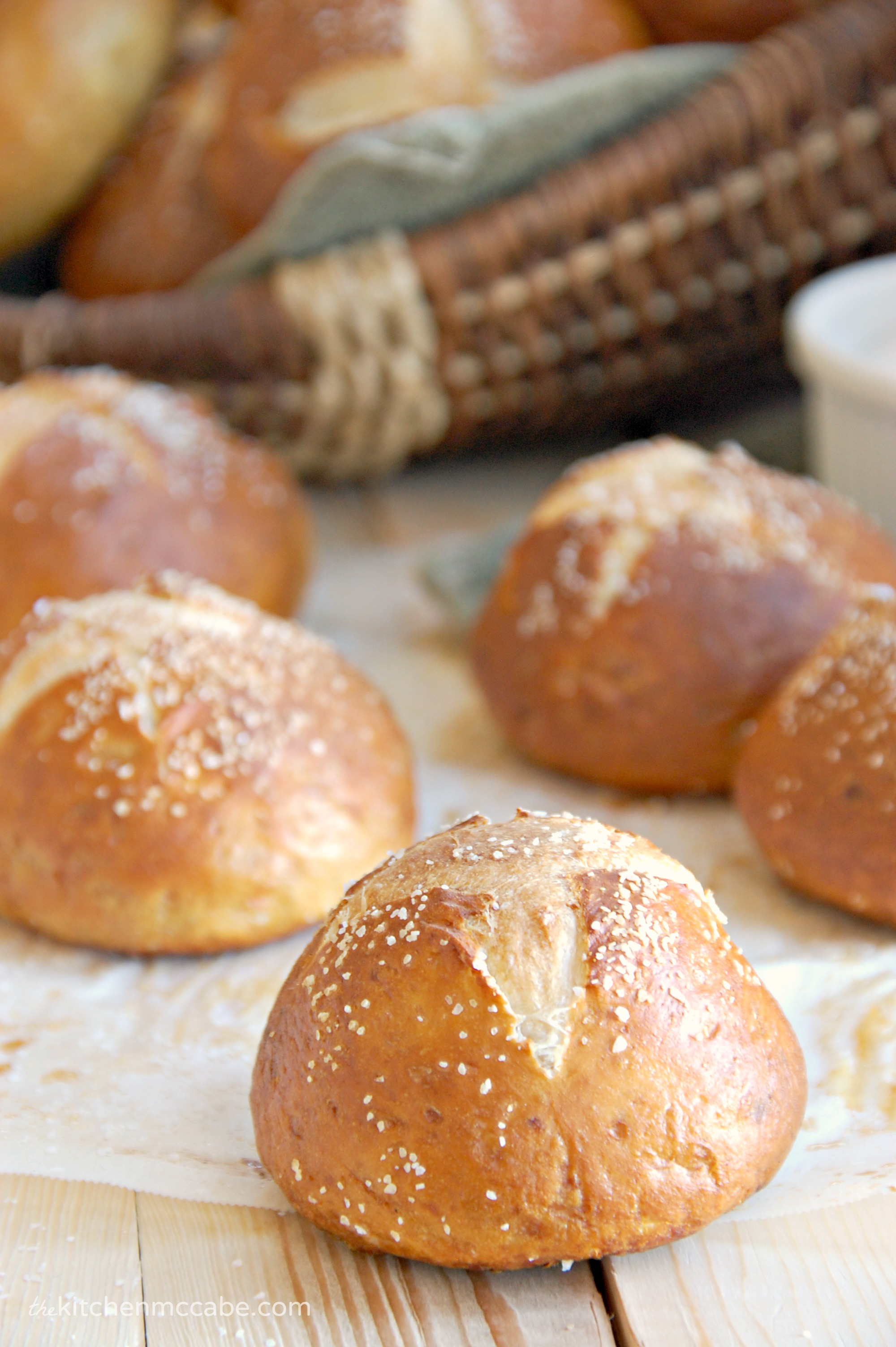 Soft homemade Pretzel Rolls - The Kitchen McCabe