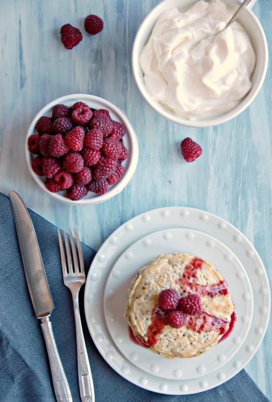 red quinoa pancakes 1