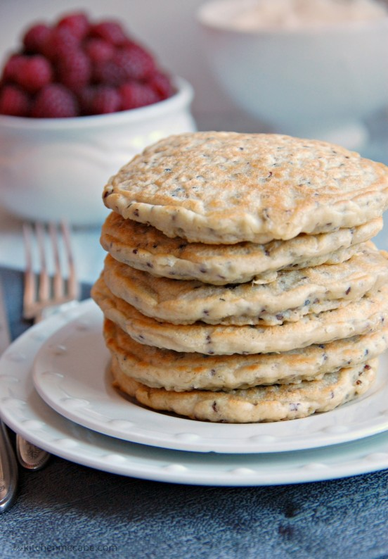 red quinoa pancakes 3
