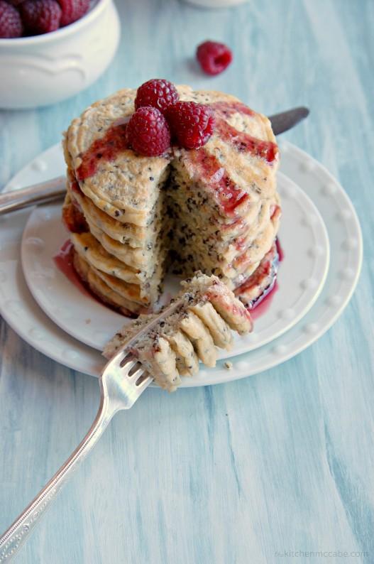 red quinoa pancakes 5