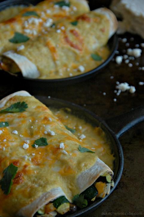 roasted vegetable enchiladas with sweet corn chili sauce 5