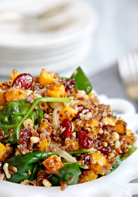 warm butternut squash and quinoa salad 2