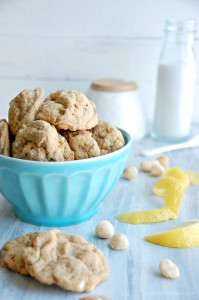 white chocolate chip macadamia lemon cookies 3