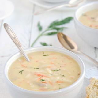 Greek lemon chicken soup - avgolemono 1