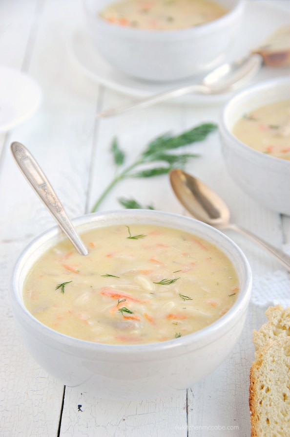 Greek lemon chicken soup - avgolemono 1