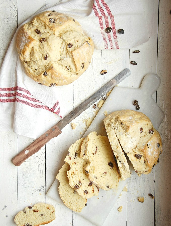 Irish Soda Bread with Raisins{& my non-Irish Heritage}
