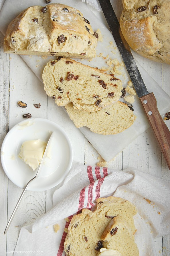 Irish Soda Bread with Raisins 7