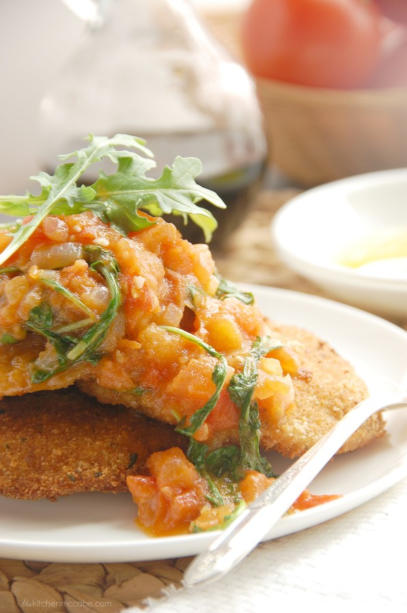 Mozzarella en Carozza with tomato rocket sauce 3
