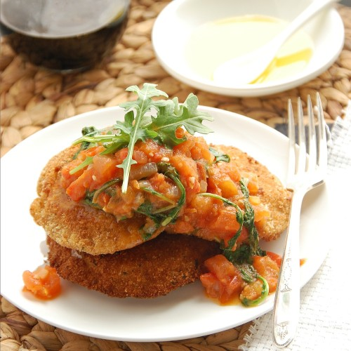 Mozzarella en Carozza with tomato rocket sauce fg 2