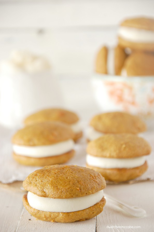 carrot cake whoopie pie with almond cream cheese frosting 4