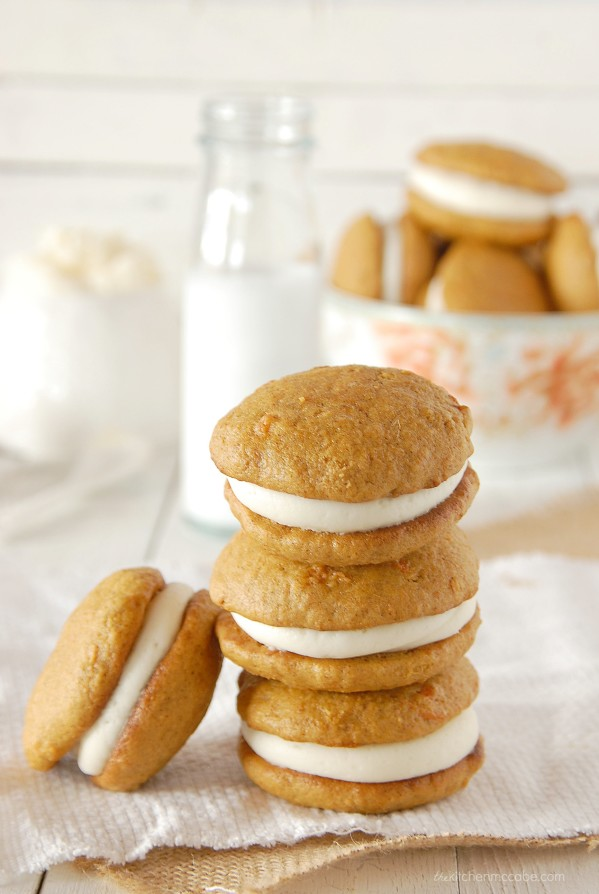 carrot cake whoopie pie with almond cream cheese frosting 5
