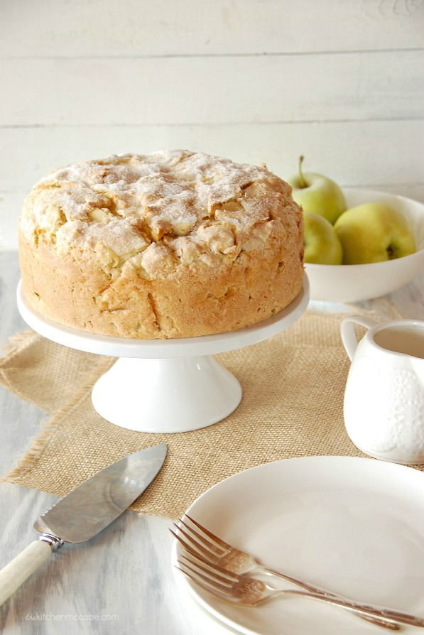 Apple Crumble Custard Cake