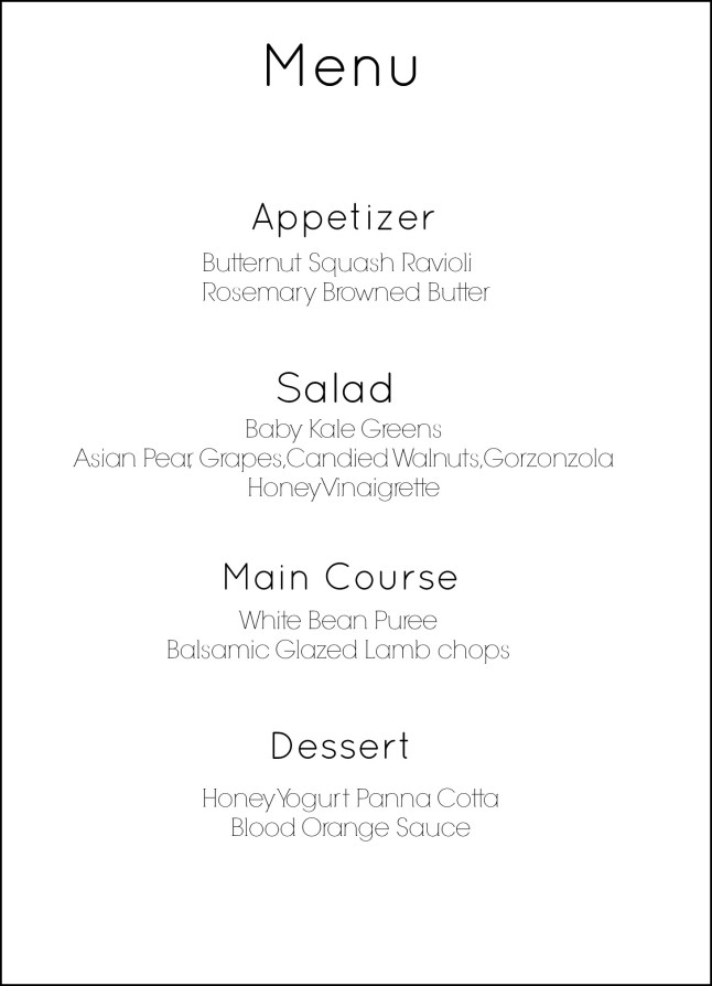 HOW TO MAKE A 4 COURSE RESTAURANT QUALITY MEAL AT HOME  : menu 646x894 from thekitchenmccabe.com size 646 x 894 jpeg 50kB
