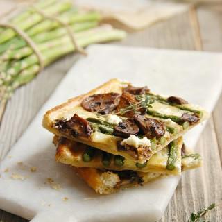 Asparagus Balsamic Mushroom goats cheese tart 1