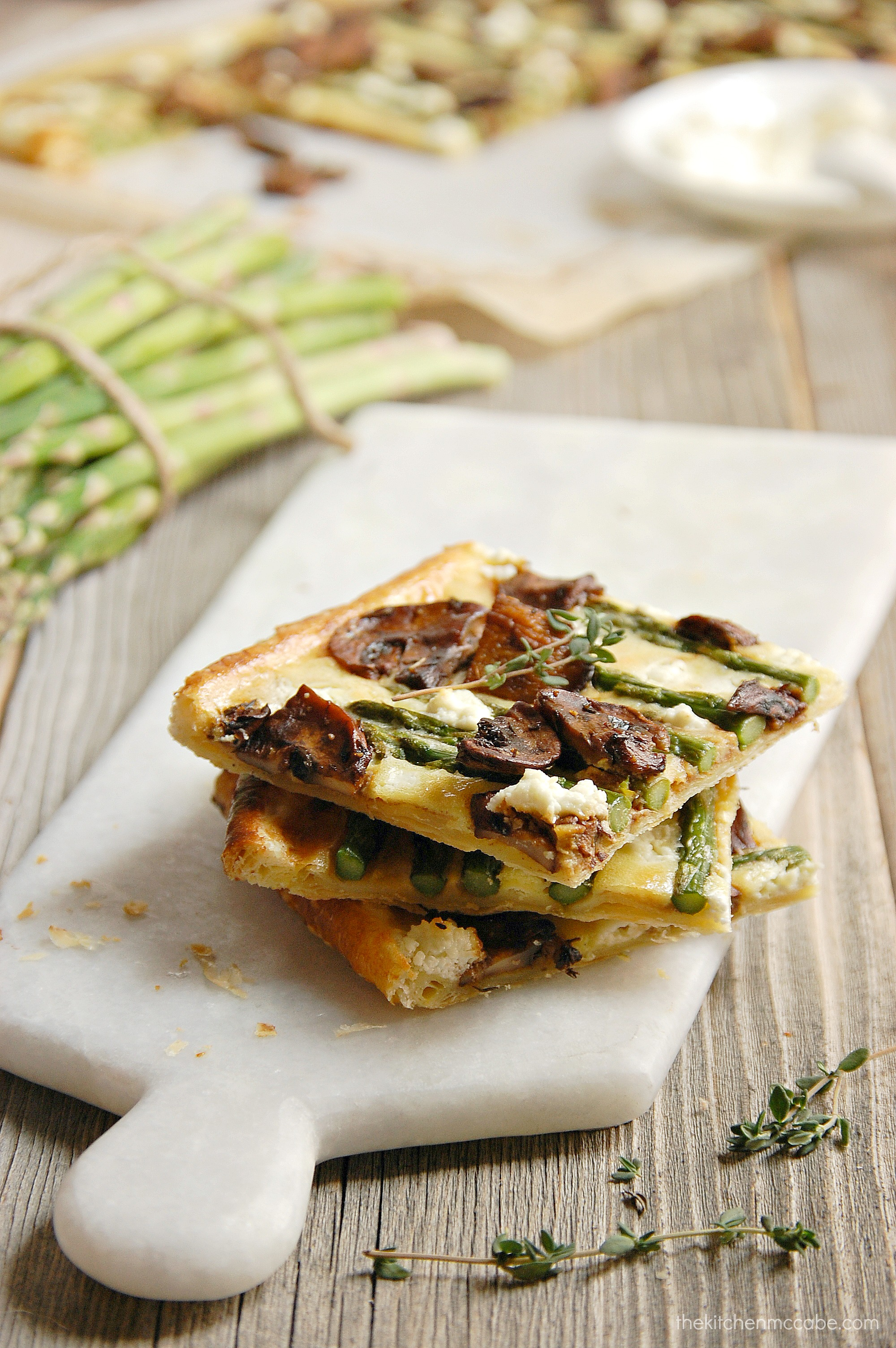 Asparagus Tart with Balsamic Mushrooms and Goats Cheese - The Kitchen ...