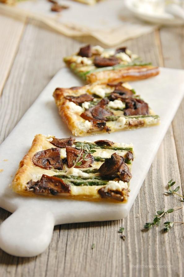 Asparagus Balsamic Mushroom goats cheese tart 4