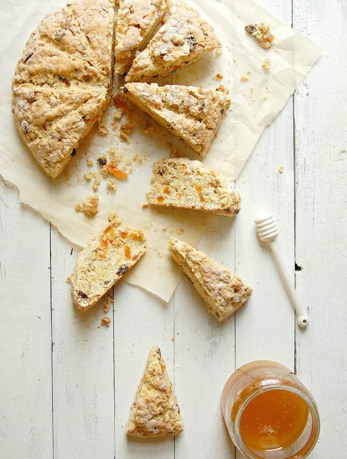 Irish Fruit and Oatmeal Scones