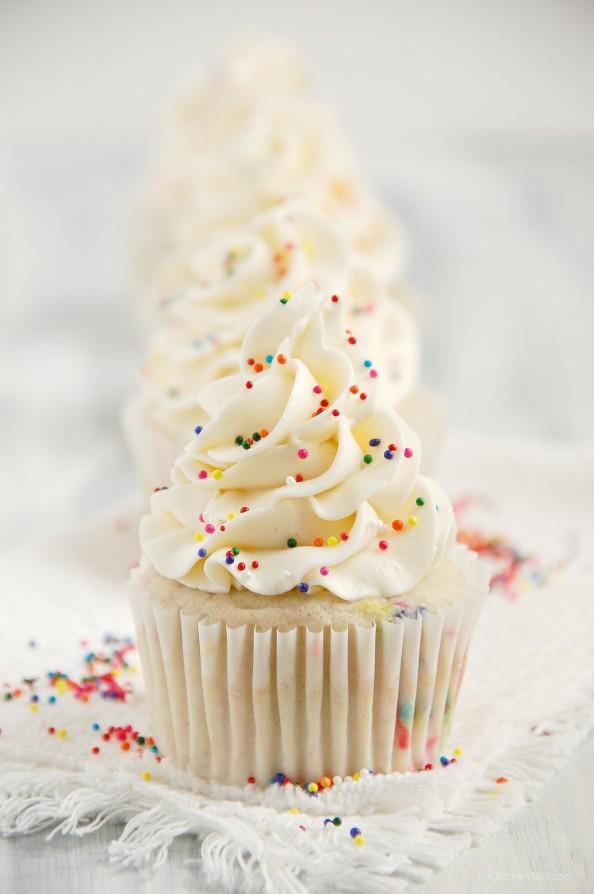 Funfetti Birthday Cake Cupcakes...ditch that boxed mix! | thekitchenmccabe.com