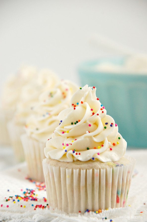 Awe Inspiring Funfetti Birthday Cake Cupcakes Ditch That Boxed Mix The Personalised Birthday Cards Cominlily Jamesorg